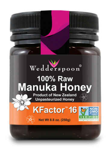 FREE Wedderspoon Manuka Honey.